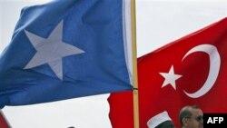 Somali Cumhurbaşkanı Şeyh Şerif Ahmet ve Başbakan Erdoğan (19 Ağustos 2011)