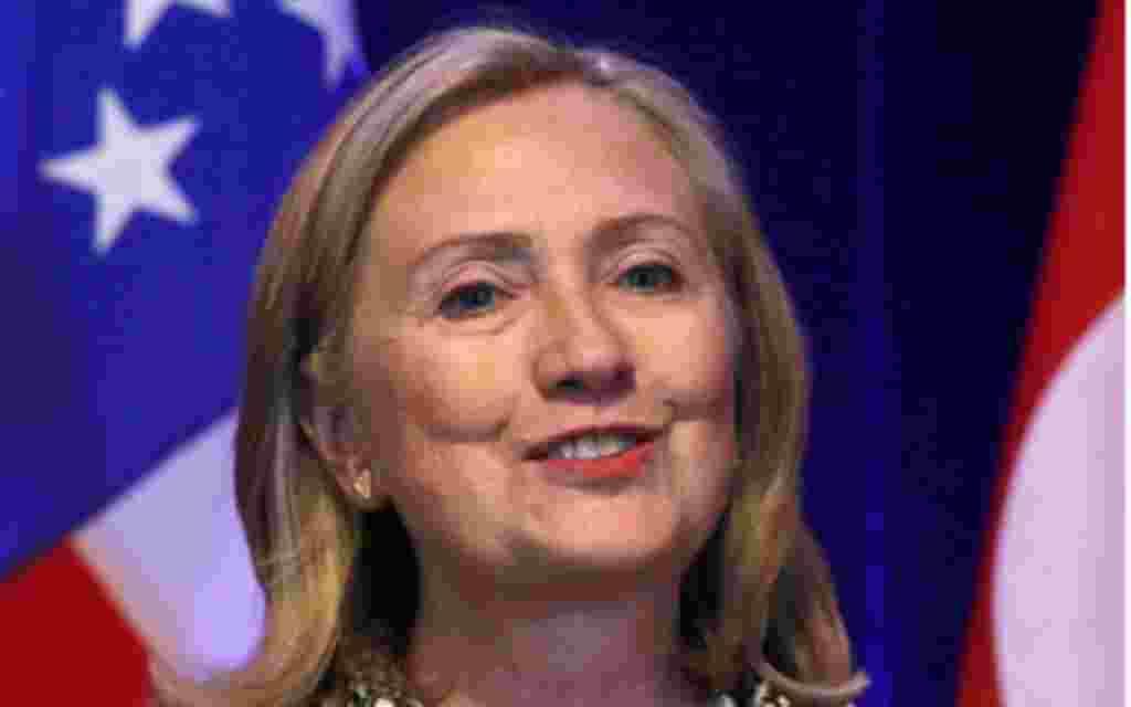 2. - La secretaria de Estado de Estados Unidos, Hillary Clinton.