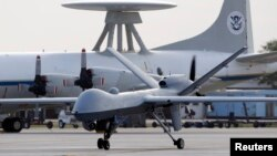 Pesawat tak berawak milik Amerika di Pangkalan Udara Angkatan Laut di Corpus Christi, Texas.