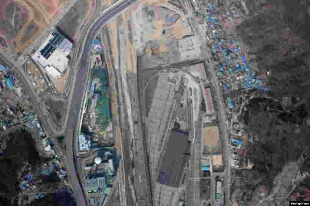파주에서 추락한 북한 발진 추정 무인기가 촬영한 지축역 일대.