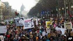 """Demonstrasi """"Keadilan bagi Semua"""" di Washington, Sabtu, 13 Desember 2014"""