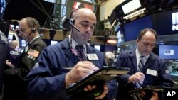 Des traders à Wall Street, New York, le 2 novembre 2016.