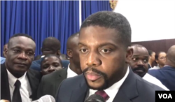 Prime Minister nominee Fritz William Michel talks to VOA Creole after the lower chamber approves his nomination, Sept. 3, 2019.