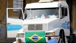 Camionistas marcham para Brasília