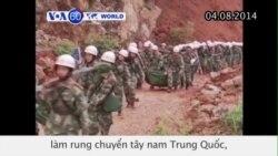 Động đất ở Trung Quốc, hàng trăm người tử vong (VOA6)