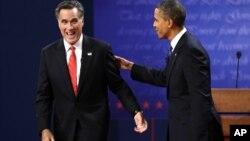 奧巴馬和羅姆尼進行首場電視辯論對決