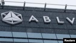 logo ABLV Bank di Riga, Latvia, 18 Februari 2018.