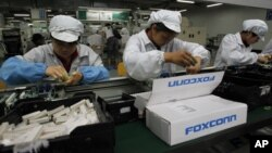 Dây chuyền lắp ráp tại nhà máy Foxconn.