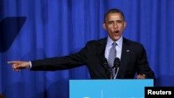 Predsednik Obama obraća se za vreme skupa Organizacije za akciju u Vašingtonu.