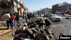 爆炸襲擊事件現場
