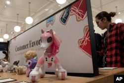 Zoomed Show Pony is one of the selected toys on sale at an Amazon Books store, Nov. 20, 2017, in New York.
