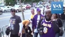 A Los Angeles, des milliers de personnes rendent hommage à Kobe Bryant