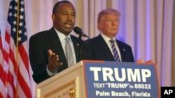 Başkanlık yarışından çekilen Ben Carson, Donald Trump'a desteğini açıkladı