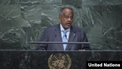 Le président Djiboutien Guelleh aux Nations Unies a New York