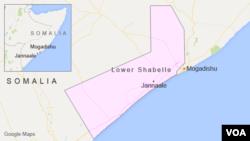 소말리아 수도 모가디슈에서 남쪽으로 120킬로미터 가량 떨어진 자날레 지역.