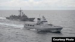 순항 미사일을 갖춘 중국 해군 호위함. (자료사진)