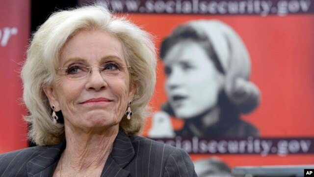 Academy and Emmy award-winning actress, Patty Duke is shown during a  news conference at the Paley Center for Media in Beverly Hills, Calif., on Tuesday, March 23, 2010.
