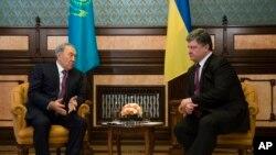 یوکرین اور قازقستان کے صدور کی ملاقات