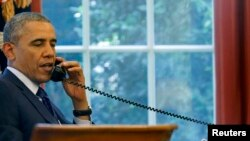 Tổng thống Barack Obama đã điện đàm với Tổng thống Nga Vladimir Putin kêu gọi nhà lãnh đạo Nga ủng hộ một thỏa thuận hòa bình cho Ukraine sẽ được đưa ra cứu xét tại hội nghị thượng đỉnh ở Belarus