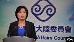 台灣陸委會副主委兼發言人吳美紅。(資料圖片 )