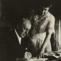 Woodrow Wilson and his wife, Edith