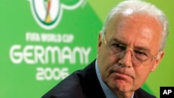 FILE - Franz Beckenbauer, shown in 2006 when he led soccer's World Cup organizing committee for Germany, on Saturday had heart surgery planned weeks ago, Bild newspaper reports.