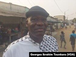 Soumahoro Farikou, président de la fédération des commerçants, le 25 janvier 2018. (VOA/Georges Ibrahim Tounkara)