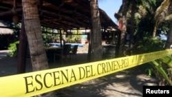 Hiện trường nơi xảy ra vụ hãm hiếp các du khách ở Acapulco, ngày 6/2/2013.