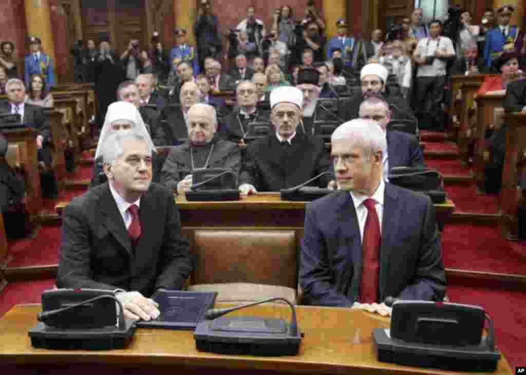 Bivši i novi predsjednik Srbije uoči polaganja zakletve