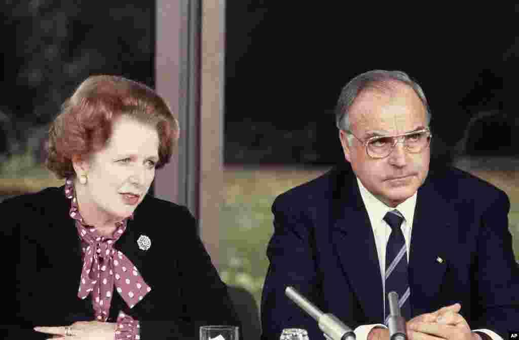 29 октября 1982, канцлер ФРГ Гельмут Коль с премьер-министром Великобритании Маргарет Тэтчер