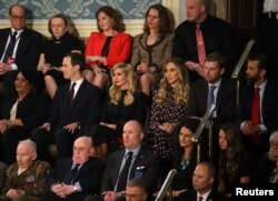 Members of U.S. President Donald Trump's family sit in attendance as he delivers his second State of the Union address to a joint session of the U.S. Congress in the House Chamber of the U.S. Capitol in Washington, Feb. 5, 2019.
