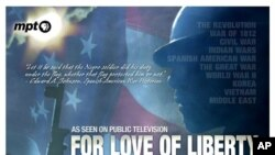 "Promotionial poster for ""For Love of Liberty"" documentary"