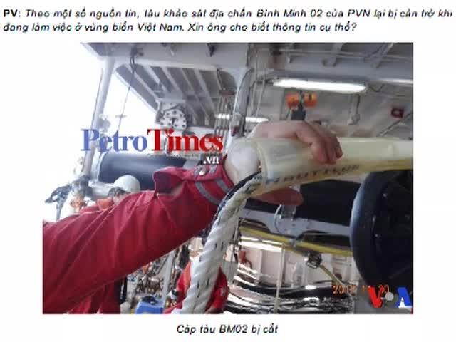 Tàu TQ 'vô tình' làm đứt dây cáp tàu khảo sát VN