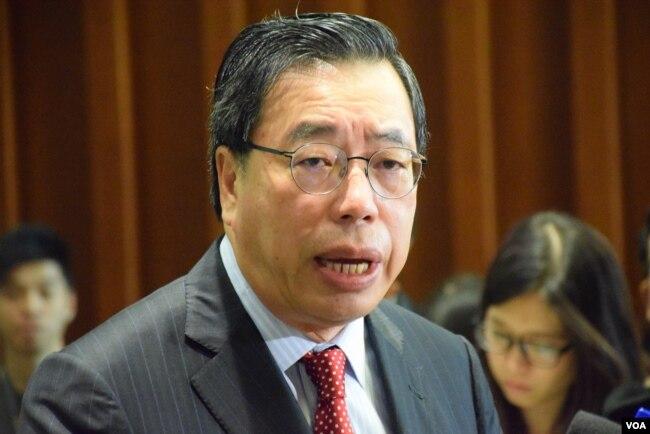 香港立法会主席梁君彦(美国之音/汤惠芸)