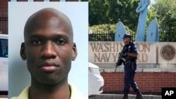 Un oficial patrulla la entrada al Astillero Naval en Washington. La autorización de seguridad de Aaron Alexis fue emitida por la misma empresa que emitió la de Edward Snowden.