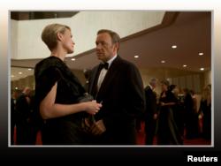 "Kevin Spacey y Robin Wright, protagonistas de la serie ""House of Cards""."