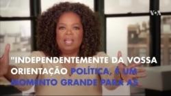 Oprah revelou o seu apoio oficial à candidata Hillary Clinton