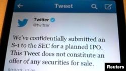 Por medio de un tuit, Twitter anunció sus intenciones de ingresar al mercado bursátil.