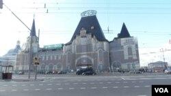 西伯利亚大铁路起点,莫斯科亚罗斯拉夫火车站。