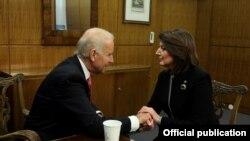Atifete Jahjaga dhe Joe Biden