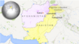 Map: Pakistan, Afghanistan and Pakistan-controlled Kashmir.