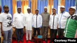 Viongozi wa muungano wa kisiasa nchini Kenya Kenya National Super Alliance (NASA).