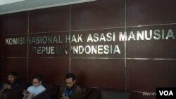 Kantor Komnas HAM di Jakarta, 9 Januari 2020. (Photo: VOA / Sasmito)