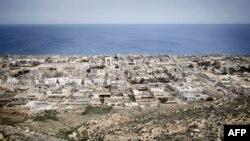 Vue aérienne de la ville de Derna, en Libye, le 15 mars 2011.