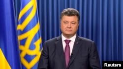 Tổng thống Nga Petro Poroshenko nói về quyết định giải tán quốc hội trong bài diễn văn hôm 25/8/14
