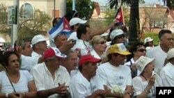 """Biểu tình tại Miami để tỏ tình đoàn kết với nhóm """"Phu nhân Áo trắng"""" ở Cuba"""
