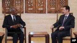 Kofi Annan dilaporkan menjadi penengah pembicaraan tiga negara mengenai persiapan Suriah pasca kekuasaan Presiden Bashar al-Assad (foto:dok)