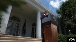 El presidente Barack Obama exhortó a los representantes de ambos partidos a votar para avanzar en el proceso.