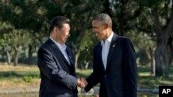 習近平今年7月訪問美國﹐與美國總統奧巴馬在加州莊園會面。