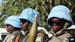 Capacetes azuis em Darfur